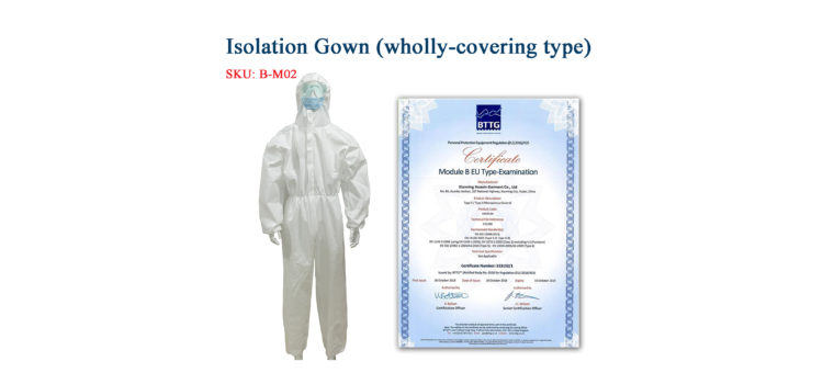 Isolation Gown (Wholly-covering type)